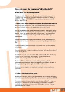 Bases legales del concurso #ifeelbasicfit
