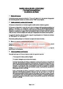 BASES LEGALES DEL CONCURSO TortitasChristmasEdition (en adelante, las Bases)