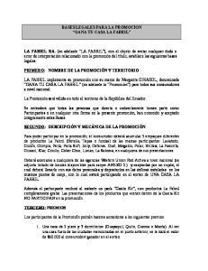 BASES LEGALES PARA LA PROMOCION GANA TU CASA LA FABRIL