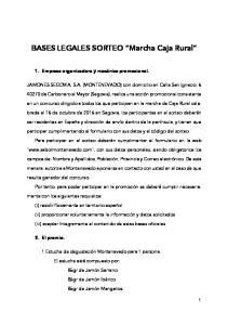 BASES LEGALES SORTEO Marcha Caja Rural
