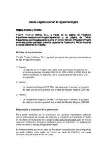 Bases Legales Sorteo #RegalameVogels