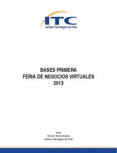 BASES PRIMERA FERIA DE NEGOCIOS VIRTUALES 2013