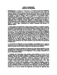 BASES Y CONDICIONES CARNAVAL DE RECARGAS