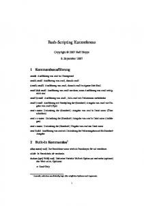 Bash-Scripting Kurzreferenz