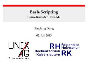 Bash-Scripting Linux-Kurs der Unix-AG