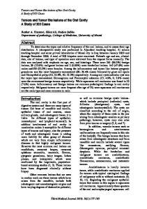 Bashar A. Hassawi, Eklas Ali, Nadwa Subhe. Department of pathology, College of Medicine, University of Mosul