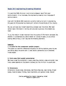Basic 2D Engineering Drawing Checklist
