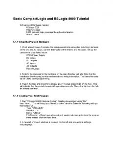 Basic CompactLogix and RSLogix 5000 Tutorial
