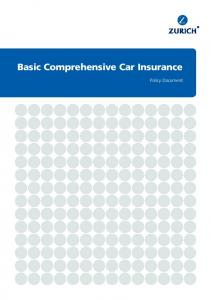 Basic Comprehensive Car Insurance. Policy Document
