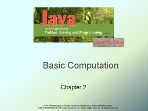 Basic Computation. Chapter 2