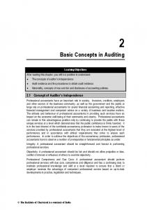 Basic Concepts in Auditing