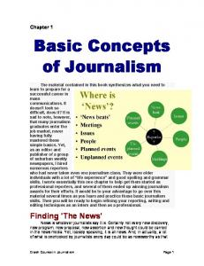 Basic Concepts of Journalism