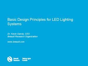 Basic Design Principles for LED Lighting Systems