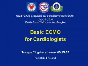 Basic ECMO for Cardiologists