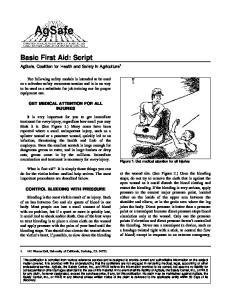 Basic First Aid: Script