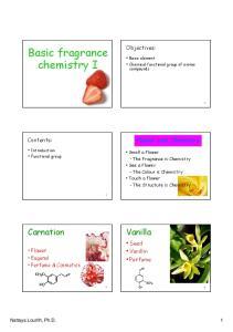 Basic fragrance chemistry I