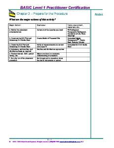 BASIC Level 1 Practitioner Certification