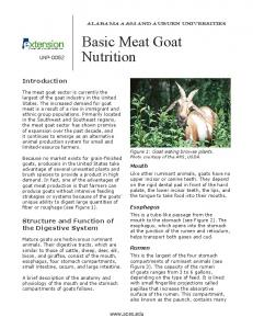 Basic Meat Goat Nutrition