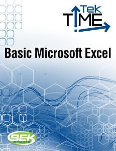 Basic Microsoft Excel