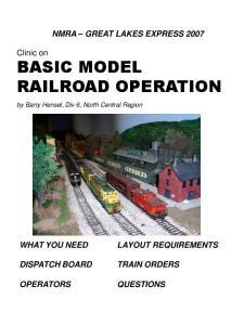BASIC MODEL RAILROAD OPERATION