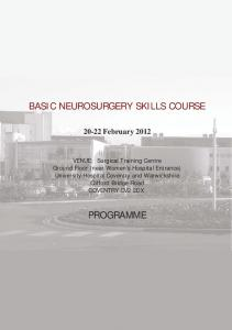 BASIC NEUROSURGERY SKILLS COURSE
