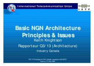 Basic NGN Architecture Principles & Issues