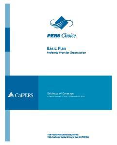 Basic Plan Preferred Provider Organization