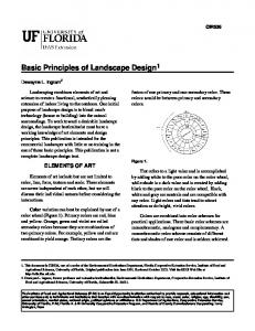 Basic Principles of Landscape Design 1