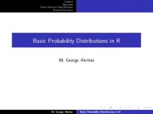 Basic Probability Distributions in R