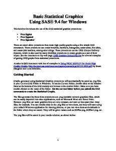 Basic Statistical Graphics Using SAS 9.4 for Windows