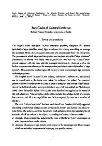 Basic Tasks of Cultural Semiotics