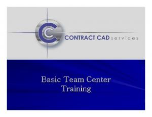 Basic Team Center Training