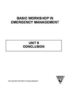 BASIC WORKSHOP IN EMERGENCY MANAGEMENT