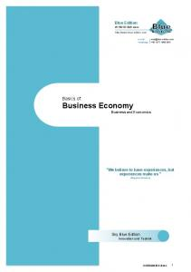 Basics of: Business Economy Business and Economics