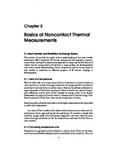 Basics of Noncontact Thermal Measurements