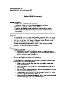 Basics of Risk Management