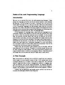 Basics of the awk Programming Language. Introduction. A First Example