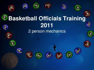 Basketball Officials Training person mechanics