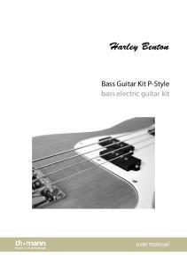 Bass Guitar Kit P-Style bass electric guitar kit