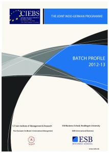 BATCH PROFILE