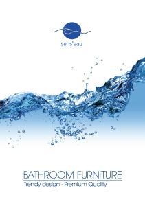 BATHROOM FURNITURE. Trendy design - Premium Quality