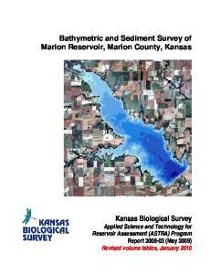 Bathymetric and Sediment Survey of Marion Reservoir, Marion County, Kansas