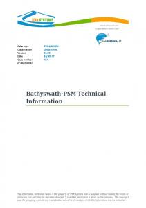 Bathyswath-PSM Technical Information