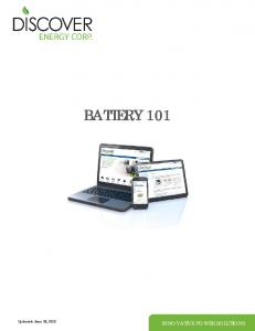 BATTERY 101. Updated: June 22, 2012 INNOVATIVE POWER SOLUTIONS