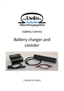 Battery charger and canister