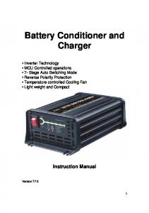 Battery Conditioner and Charger