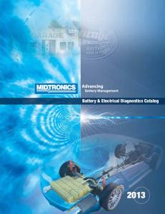 Battery & Electrical Diagnostics Catalog