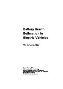 Battery Health Estimation in Electric Vehicles