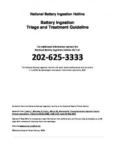 Battery Ingestion Triage and Treatment Guideline