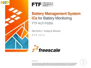 Battery Management System ICs for Battery Monitoring